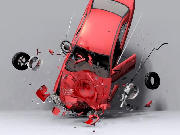 Wypadek drogowy przez niesprawność techniczną samochodu